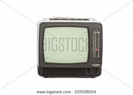Retro Old Tv Isolated On White Background