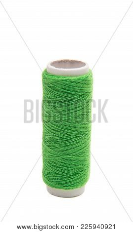 Colored Thread Textile Industry Isolated On White Background