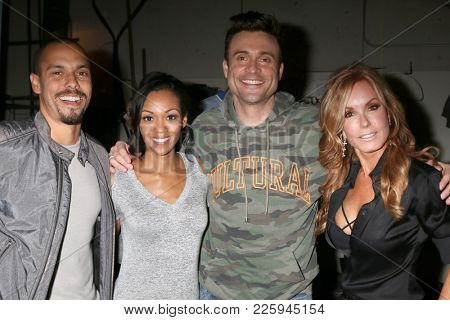LOS ANGELES - FEB 2:  Bryton James, Mishael Morgan, Daniel Goddard, Tracey Bregman at the Tracey Bregman 35th Anniversary on the Young and the Restless at CBS TV City on February 2, 2018 in LA, CA