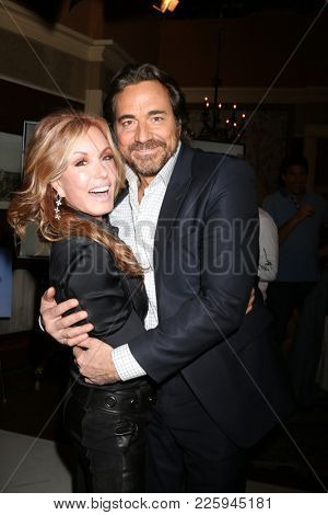 LOS ANGELES - FEB 2:  TRacey Bregman, Thorston Kaye at the Tracey Bregman 35th Anniversary on the Young and the Restless at CBS TV City on February 2, 2018 in Los Angeles, CA