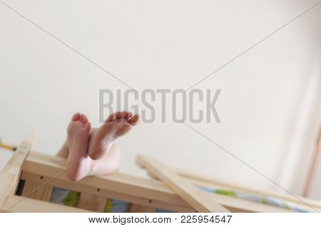 Nurseries Of A Foot. Child's Legs. Part Of A Body