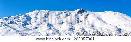 Ziria Ski Resort Panorama In Greeece. Lanscape View In Corinth.
