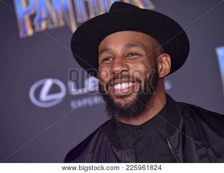 LOS ANGELES - JAN 29:  Stephen 'tWitch' Boss arrives for the 'Black Panther' World Premiere on January 29, 2018 in Hollywood, CA