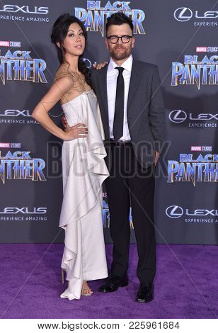 LOS ANGELES - JAN 29:  Brittany Ishibashi and Kevin Weisman arrives for the 'Black Panther' World Premiere on January 29, 2018 in Hollywood, CA