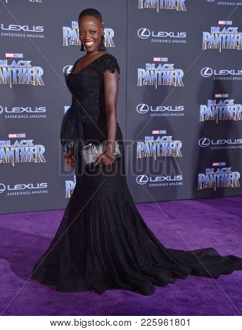 LOS ANGELES - JAN 29:  Florence Kasumba arrives for the 'Black Panther' World Premiere on January 29, 2018 in Hollywood, CA