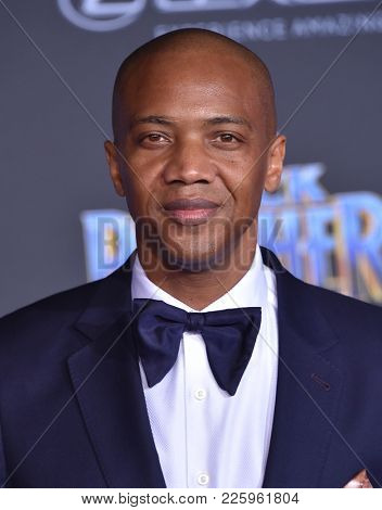 LOS ANGELES - JAN 29:  J. August Richards arrives for the 'Black Panther' World Premiere on January 29, 2018 in Hollywood, CA