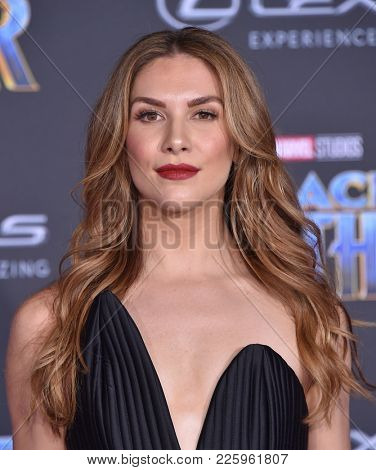 LOS ANGELES - JAN 29:  Allison Holker arrives for the 'Black Panther' World Premiere on January 29, 2018 in Hollywood, CA