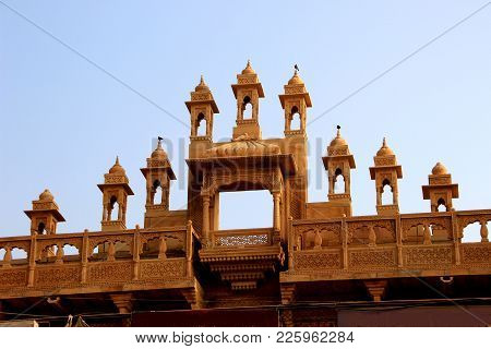 Attractive, Top Canopy Of A Building Near Jaisalmer Fort At Jaisalmer, Rajasthan, India, Asia