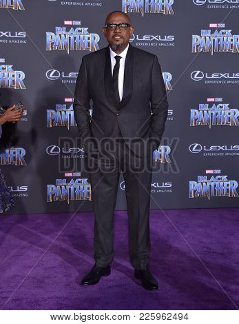 LOS ANGELES - JAN 29:  Forest Whitaker arrives for the 'Black Panther' World Premiere on January 29, 2018 in Hollywood, CA