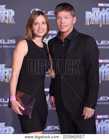LOS ANGELES - JAN 29:  Rob Liefeld and Joy Liefeld arrives for the 'Black Panther' World Premiere on January 29, 2018 in Hollywood, CA