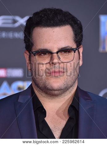 LOS ANGELES - JAN 29:  Josh Gad arrives for the 'Black Panther' World Premiere on January 29, 2018 in Hollywood, CA