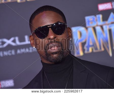 LOS ANGELES - JAN 29:  Sterling K. Brown arrives for the 'Black Panther' World Premiere on January 29, 2018 in Hollywood, CA
