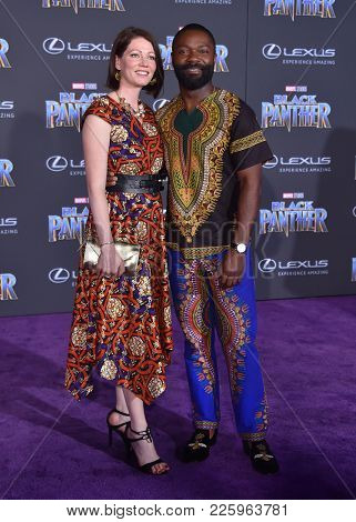 LOS ANGELES - JAN 29:  David Oyelowo and Jessica Oyelowo arrives for the 'Black Panther' World Premiere on January 29, 2018 in Hollywood, CA