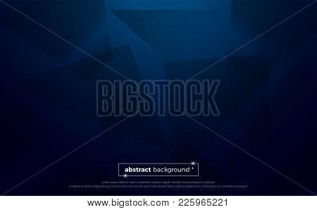 Blue Polygonal Abstract Background. Geometric Illustration With Gradient. Background Texture Design