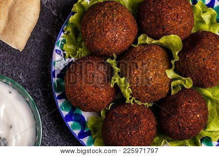Classic Falafel On The Plate.