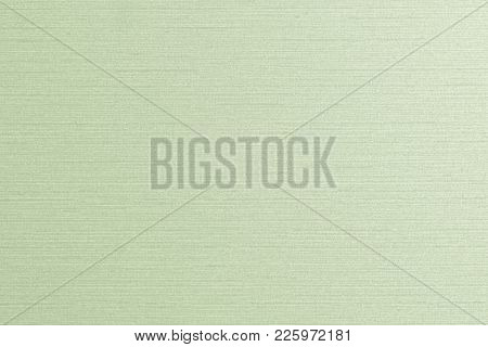 Cotton Linen Woven Fabric Texture Background In Light Pale Lime Green Color