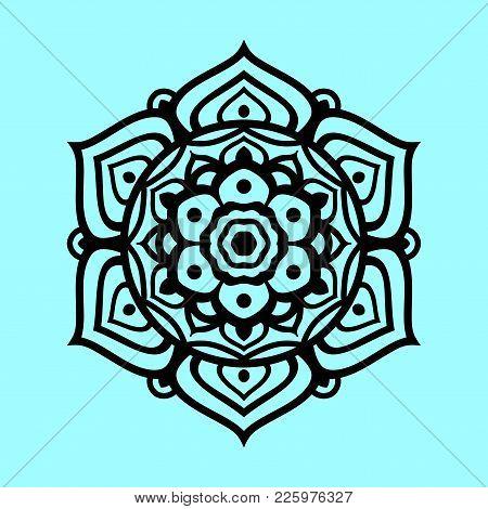 Flower Mandala Vector, Vintage Decorative Element, Henna Decorative Element.