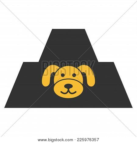 Puppy Citadel Flat Vector Icon. An Isolated Illustration On A White Background.