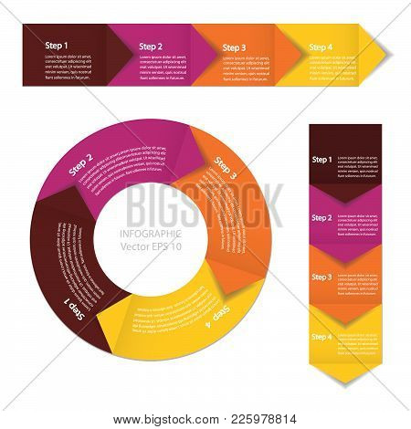 Infographics. Process Chart Module. Template For Cycling Diagram, Graph, Presentation And Round Char