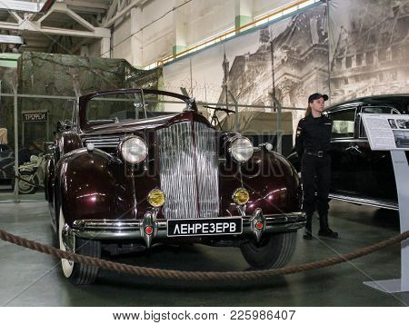 St. Petersburg, Russia - 7 May, Exhibition Of Retro Cars, 7 May, 2017. Automobiles And Vehicles Of T
