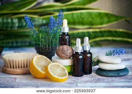 Organic Cosmetics, Natural Fruit Oils. Concept Spa, Skin Care, Ecological And Organic Natural Cosmet
