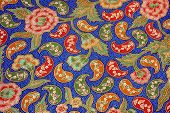 detailed patterns of traditional indonesia batik cloth poster