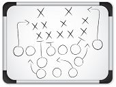 Teamwork Football Game Plan Strategy on Whiteboard poster