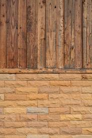 wood and brick background