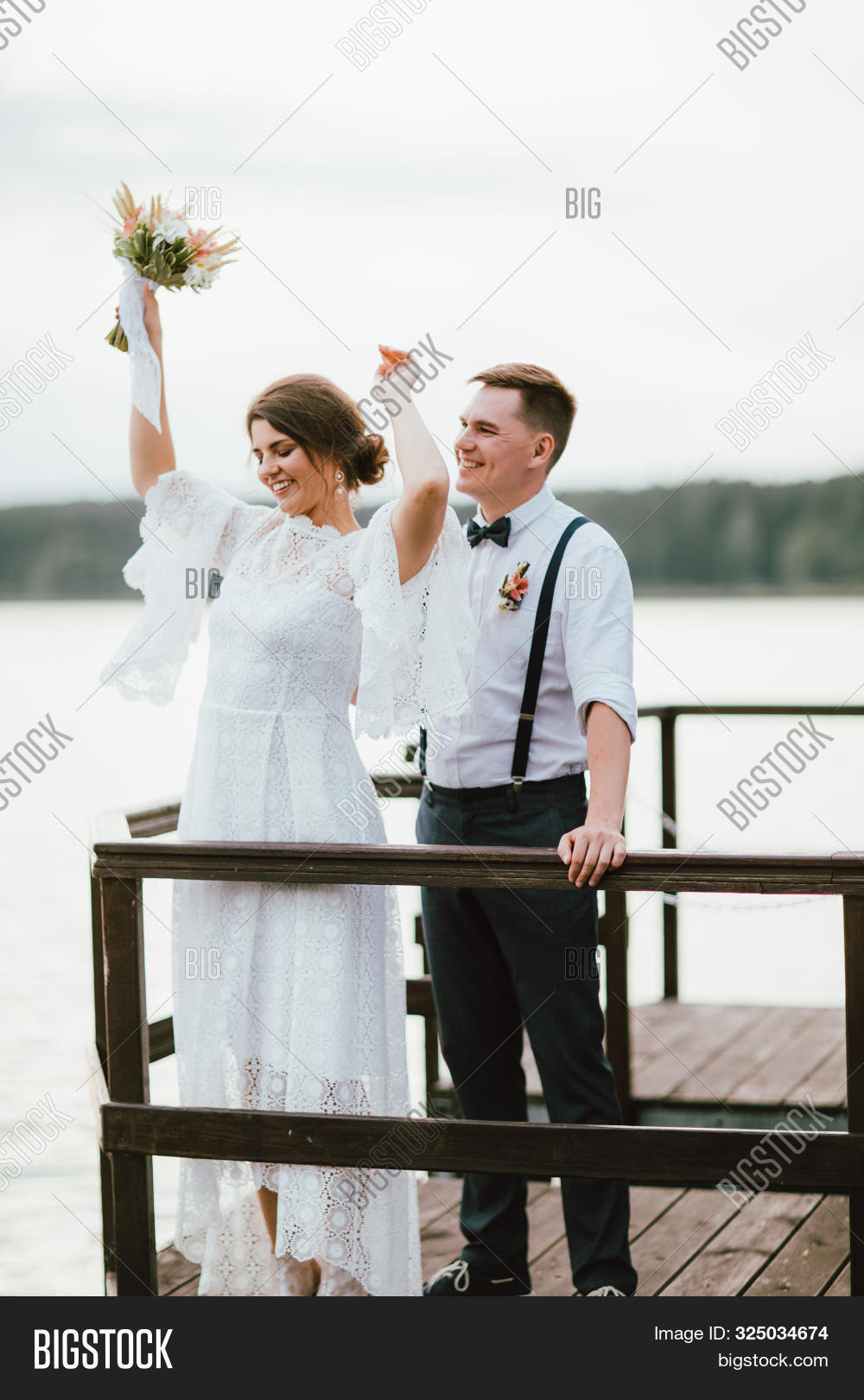 Happy Newly Married Image Photo Free Trial Bigstock