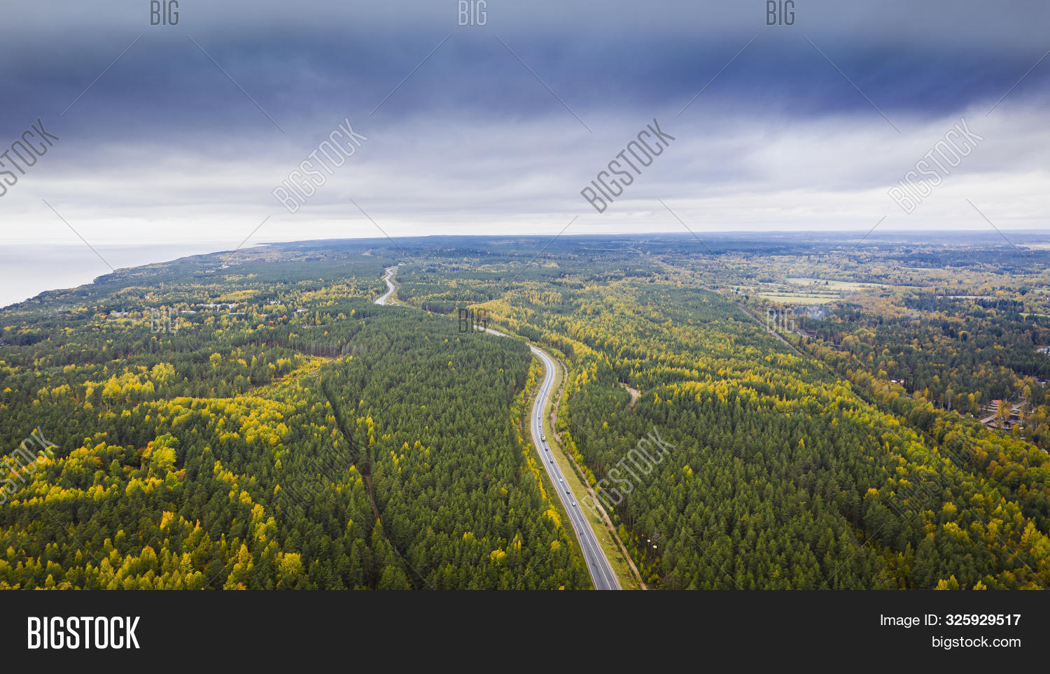 Aerial View Car On Image Photo Free Trial Bigstock