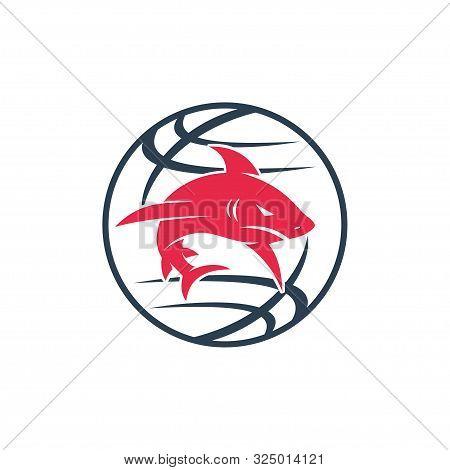 Shark World Logo Design Vector Isolated Illustration Template