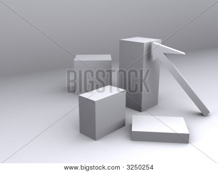 Arrow Representing Height As Compare With Other Boxes
