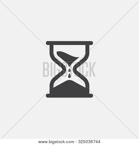 Hourglass Icon Vector Illustration, Sand Clock Icon, Time Icon Design