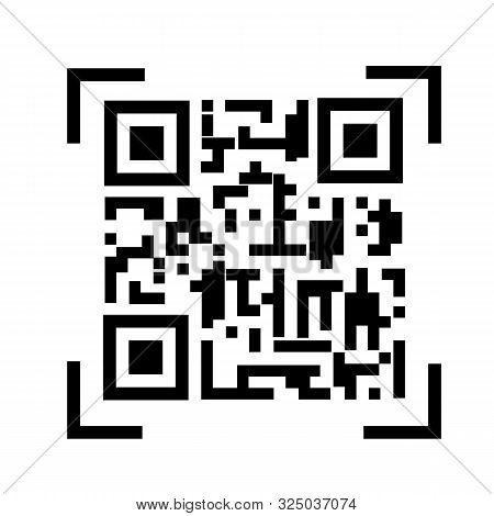 Qr Code Icon On White Background. Flat Style. Qr Code  Icon For Your Web Site Design, Logo, App, Ui.