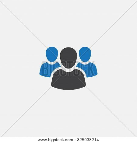 People Icon, Team Leader Icon, Team Leader Icon Illustration, Team Leader Vector Icon Simple And Mod