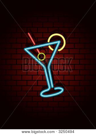 Neon Cocktail Sign
