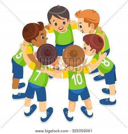 Kids Play Sports. Children Sports Team United Ready To Play Game. Children Team Sport. Youth Sports