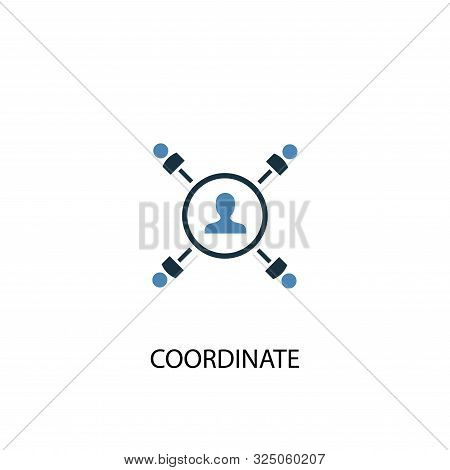 Coordinate Concept 2 Colored Icon. Simple Blue Element Illustration. Coordinate Concept Symbol Desig