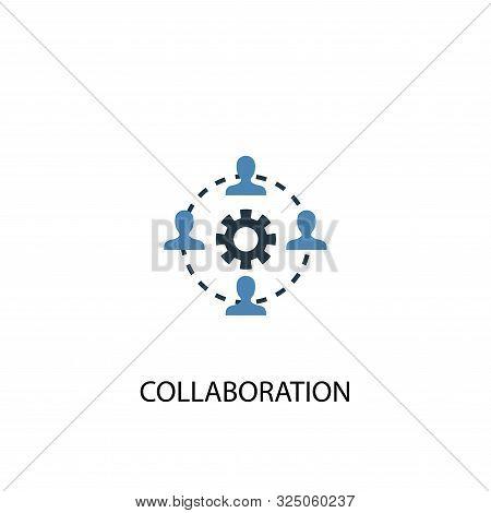 Collaboration Concept 2 Colored Icon. Simple Blue Element Illustration. Collaboration Concept Symbol
