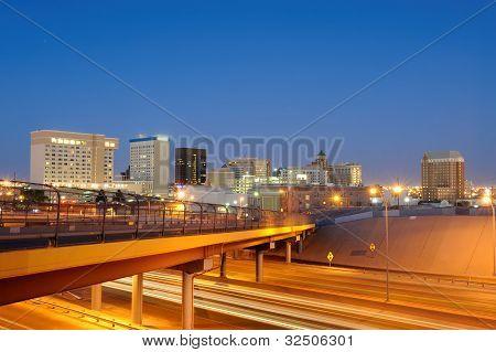 Downtown El Paso Texas at Dusk