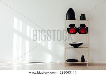 Photo Studio Equipment Accessories Photographer Flashes On White Background