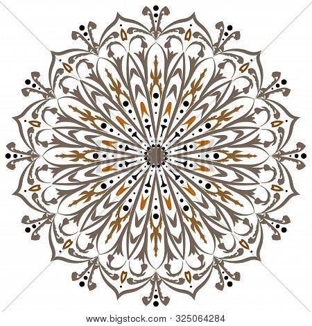 Vector Mandala, Flower Mandala, Oriental Mandala, Coloring Mandala. Oriental Pattern, Vector Illustr