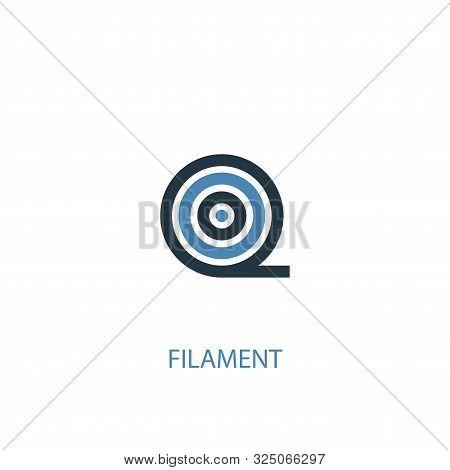Filament Concept 2 Colored Icon. Simple Blue Element Illustration. Filament Concept Symbol Design. C