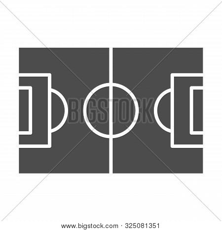 Football Field Solid Icon. Pitch Vector Illustration Isolated On White. Stadium Glyph Style Design,