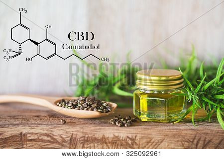 Cannabis Of The Formula Cbd Cannabidiol. Hemp Oil, Cbd Oil Cannabis Extract, Medical Cannabis Concep