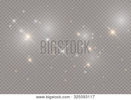 Light Glow Effect Stars. Vector Sparkles On Transparent Background. Christmas Abstract Pattern. Spar