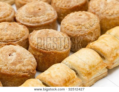 Pork pies and sausage rolls