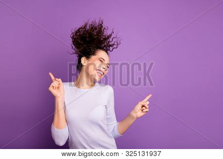 Portrait Of Her She Nice Attractive Lovely Winsome Pretty Dreamy Cheerful Cheery Wavy-haired Girl Ha