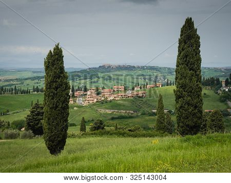 The Little Town Of Monticchiello, Tuscany, Italy