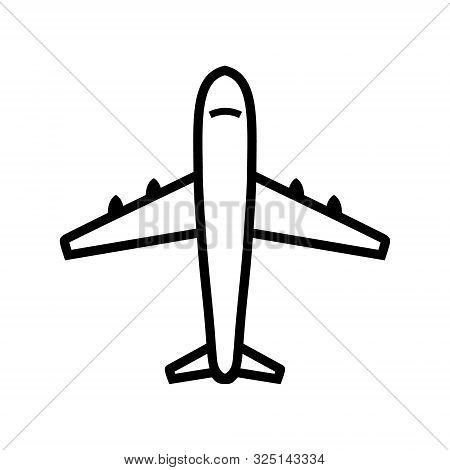 Airplane Line Icon Vector Isolated On White Background, Airplane Line Icon Simple Sign. Airplane Lin